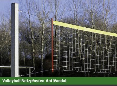 Volleyballpfosten 150x150x3mm, ROBUST aus Stahl, per Paar, inkl. Bodenhülsen