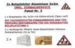 2 Stück Alu 3x2m inkl. EINBAUSERVICE/VERLÄNGERTEN PFOSTEN/ERSTABNAHME-PAKET 3