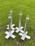 Einbauanker für Bolzplatztore zum Setzen in erdfeuchten Beton (1Satz/Set=4 Stück)
