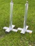 Einbauanker für Stahltorwand WERBEZWECKE- in Rasen/Asche