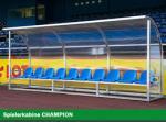 Spielerkabine CHAMPION, 3m breit, 6 Sitze
