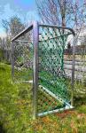 3x2m mit Herkulesnetz 5mm (Stahlseil im Netz) vollverschweißt MIT KLETTER