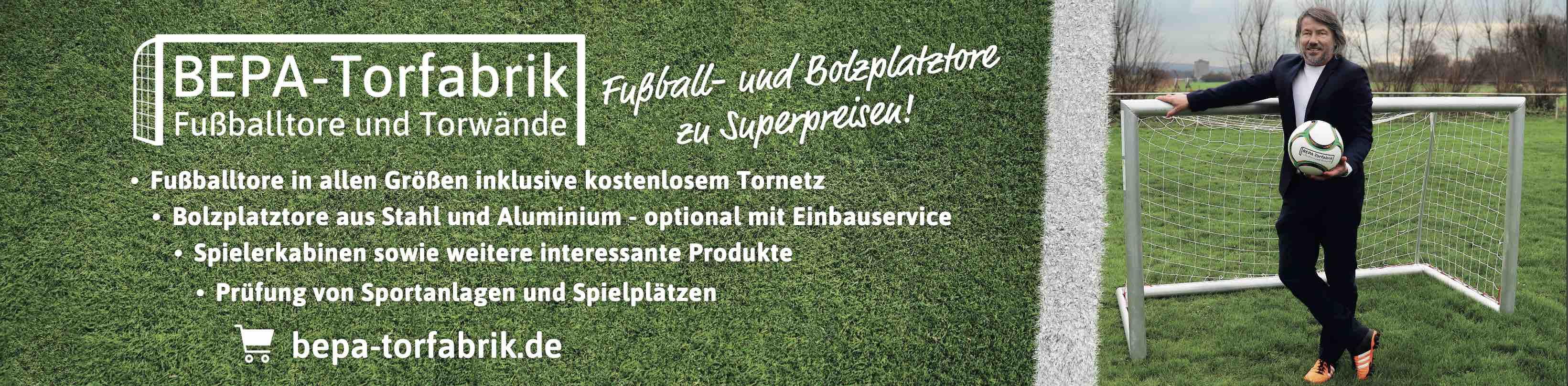 BEPA-Torfabrik - Fußballtore und Torwände - unser Onlineshop für Deutschland