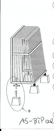Betongewichte,Kippsicherung 4er Set für Bolzplatztor 3x2m
