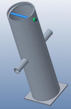 Ersatz Bodenhülse für Stadiontor, Profil 100x120mm, mit Deckel