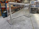 2xMini Trainingstor Alu 2,40 x 1,60 m mit Netz vollverschweißt
