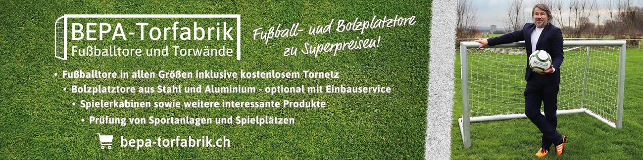BEPA-Torfabrik - Fußballtore und Torwände - unser Onlineshop für Schweiz
